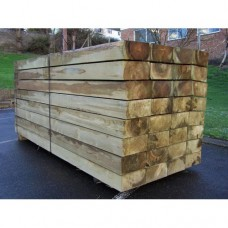 New Softwood Green Treated Railway Sleepers 200mm x 100mm x 2.4m
