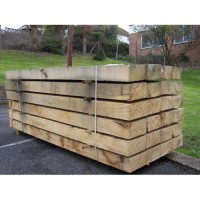 New Oak Railway Sleepers 200mm x 100mm x 2.4m