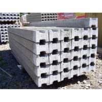 100mm x 100mm Slotted Concrete Fence Posts